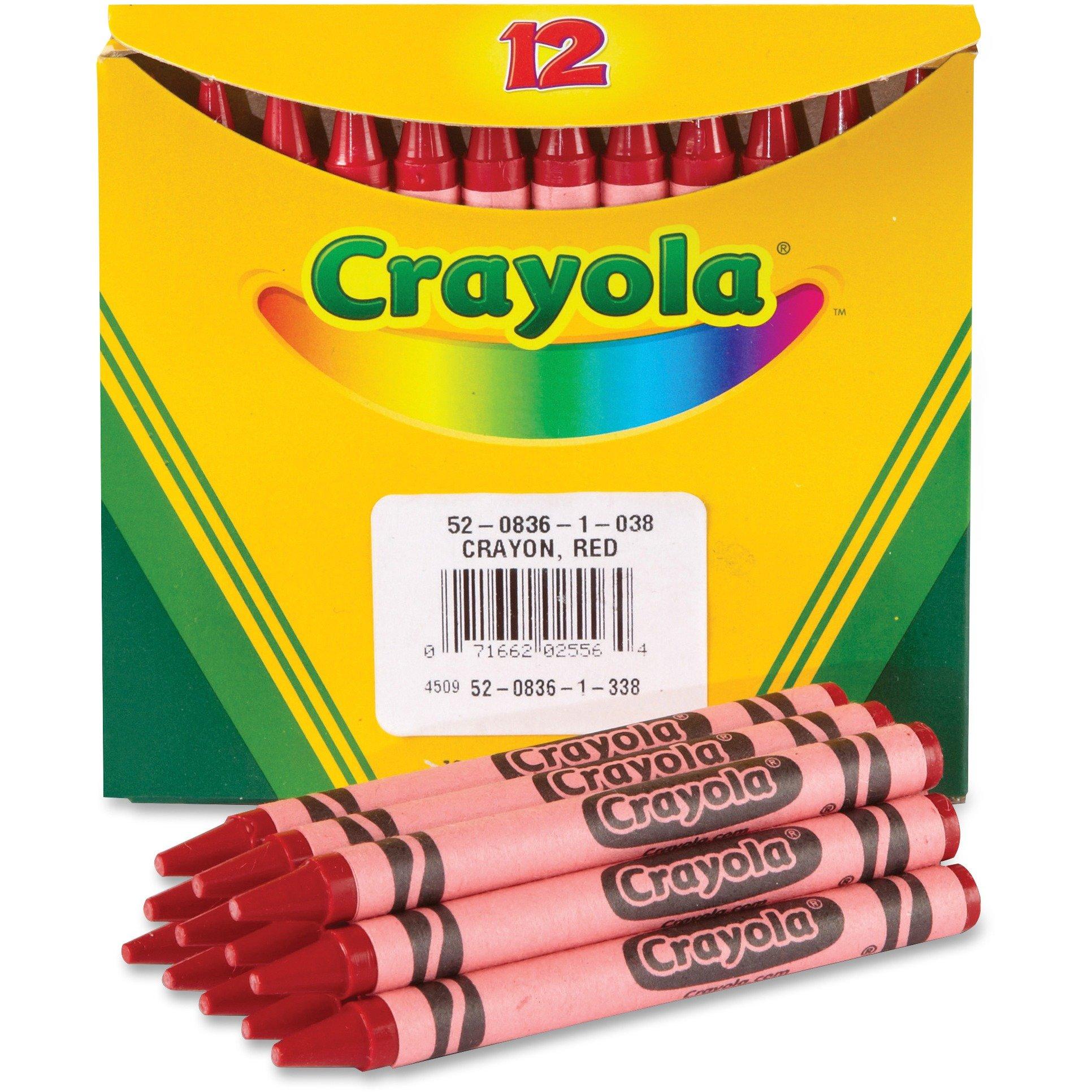 Crayola 520836038 Bulk Crayons 12/BX Red