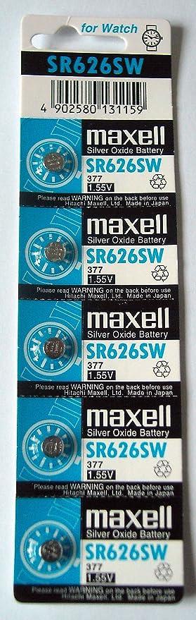 2x 5 X Maxell Sr626sw Sr626 Ag4 377 1 5 V Batterien Für Armbanduhr Küche Haushalt