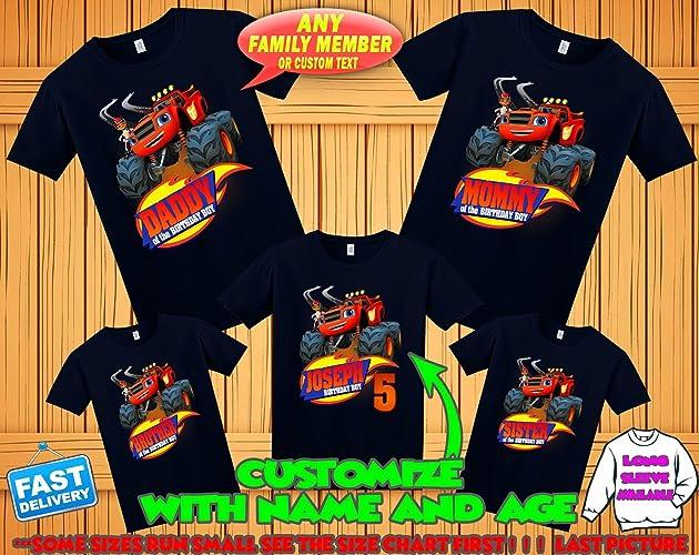 Blaze Birthday Shirt And The Monster Machines Tshirt Theme Party Shirts