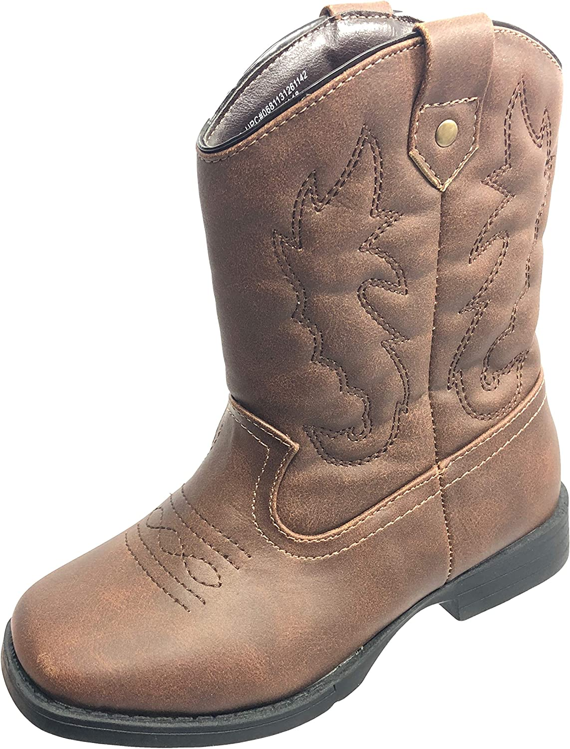 Wonder Nation Boys Cowboy Pull-on All-Weather Boots