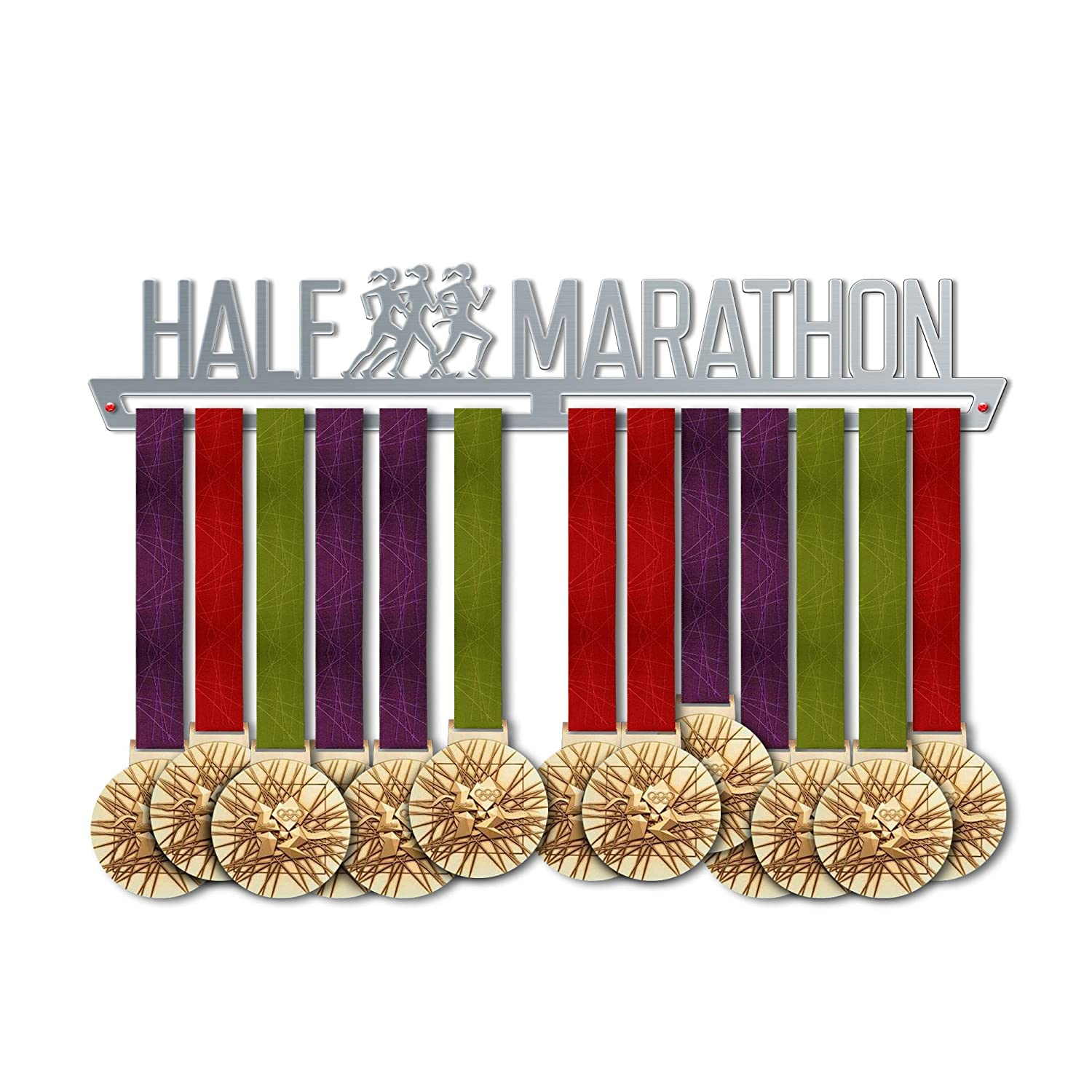 Half Marathon Medal Hanger Display | Sports Medal Hangers | Stainless Steel Medal Display | by VictoryHangers - The Best Gift for Champions !