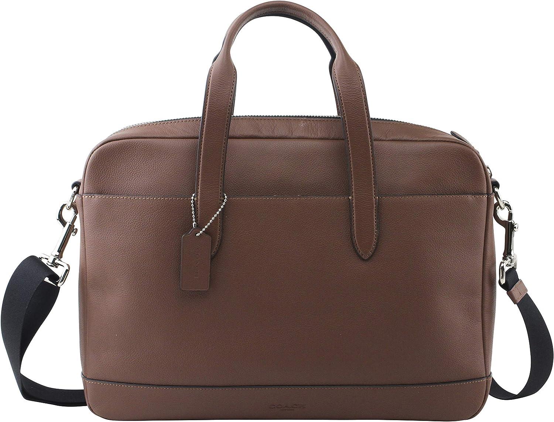 Coach Hamilton Leather Briefcase Messenger Tote - F22529 Saddle