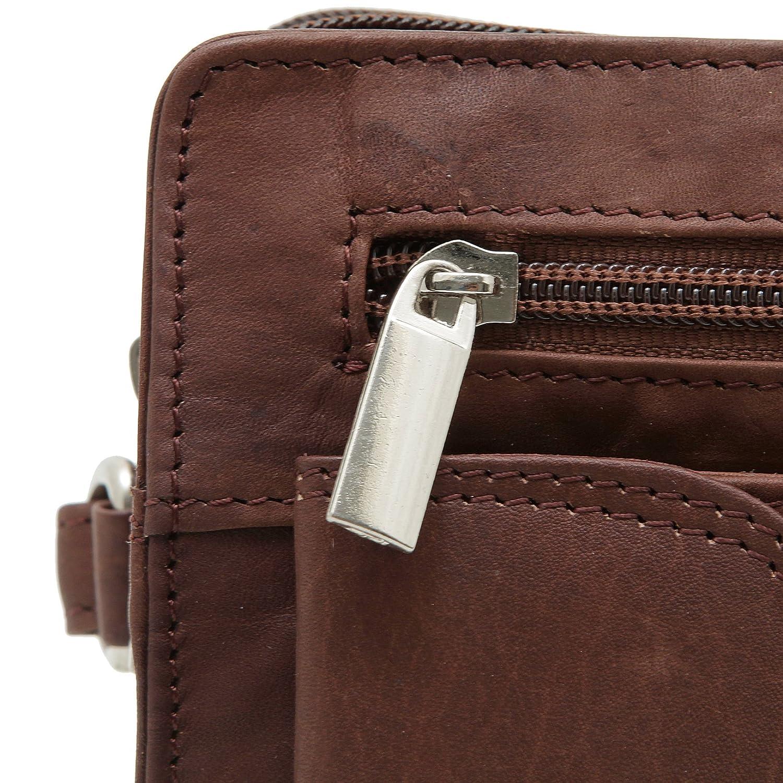 Bolso de mano de cuero genuino para hombres en 3 colores