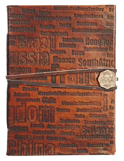 e09acf8623fb Image Unavailable. Image not available for. Color  RUSTIC TOWN Handmade  Vintage Antique Looking Genuine Leather Journal Diary Notebook ...