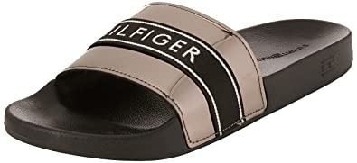 79fe0ca121081 Tommy Hilfiger Women s Mirror Metal Beach Slide Mules