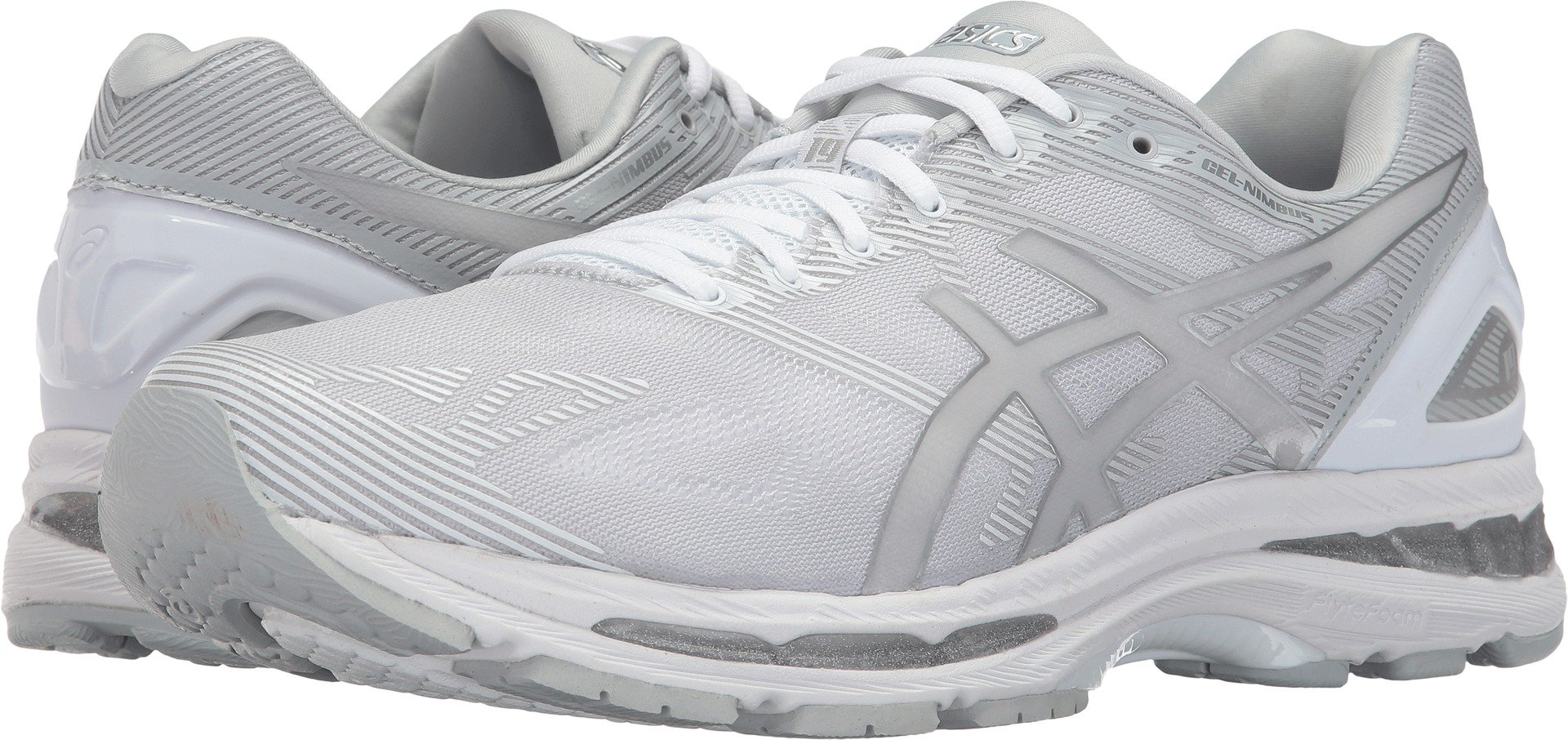 ASICS Men's Gel-Nimbus 19 Running Shoe, Glacier Grey/Silver/White, 10 Medium US by ASICS