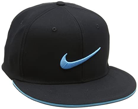 sports shoes 3df75 68024 ... coupon code for nike new golf true tour black beta blue fitted flatbill  s m hat 17070