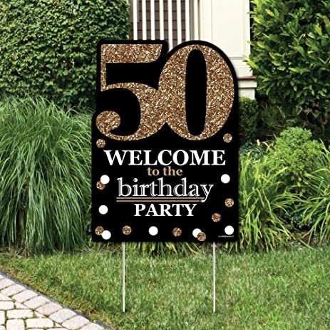 Amazoncom Adult 50th Birthday Gold Party Decorations