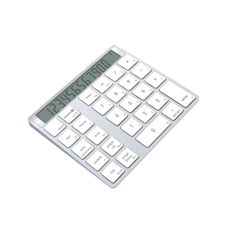 正式的 Cateck アルミニウム製 (充電式) 電卓機能付きワイヤレス Cateck 28キーのスマートテンキー/数字キーッパッド、MacとPC向けのデザイン B01N0ZSPQW (充電式) B01N0ZSPQW, 帽子屋 Handy Caps:1601d48d --- greaterbayx.co