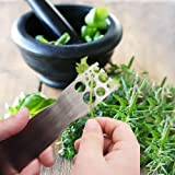 Kale and Herb Stripping Tool, Stainless Steel Vegetable Leaf Separator Stripping Tool, Kitchen Gadgets - 1 Pack, Silver