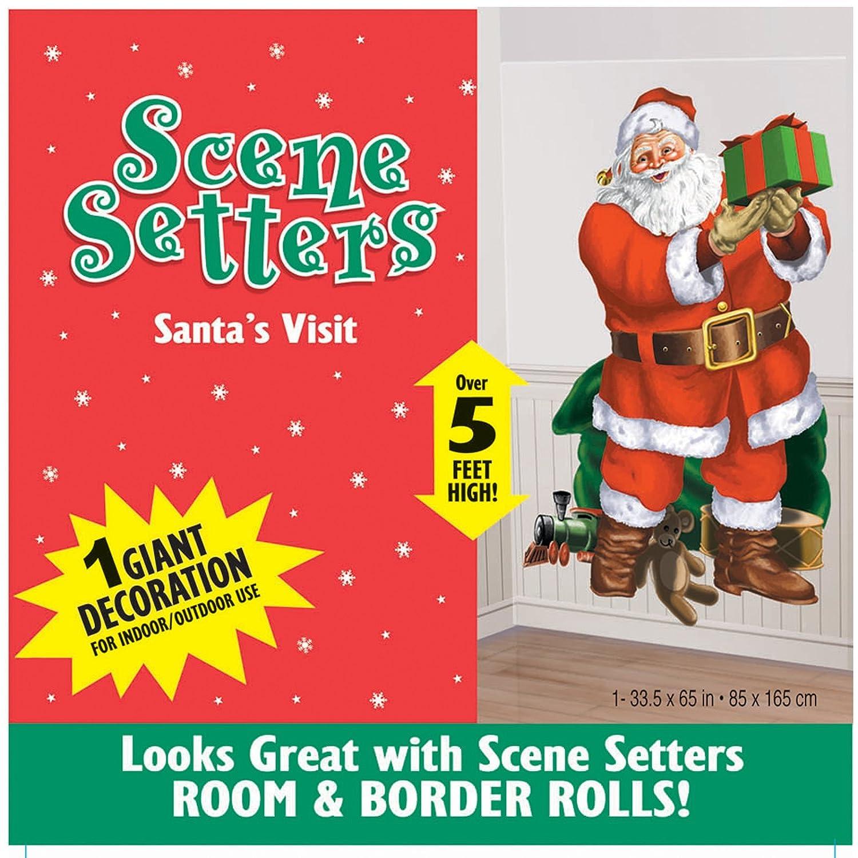 Amscan 1,65 mx 85 cm Santas Besuchen Scene Setter Dekoration