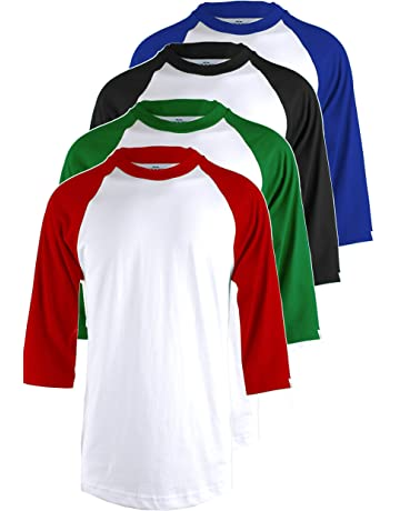 e00bfcacb TOP LEGGING TL Men s 4 Pack 3 4 Sleeve Baseball Cotton Crew Neck Jersey  Raglan