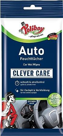 Poliboy Alles Für Die Autoreinigung Auto Feuchttücher Perfekt Für Die Gründliche Reinigung Des Innenraums Einzeln 1x20 Stück Made In Germany Auto