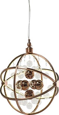 Kare Hängeleuchte Universum Copper LED, Grosse, Moderne Pendelleuchten Mit  Glaskugeln, Runde Hängelampe,