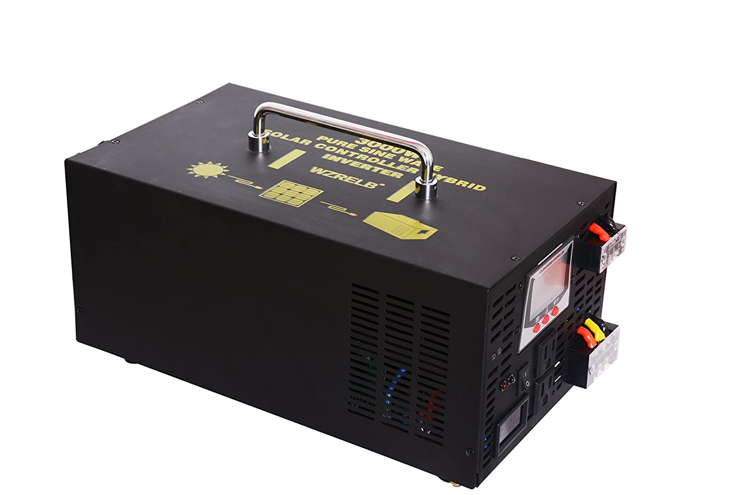 ltd 300012RBPC WZRELB 3000W 12V 120V DC to AC Off Grid All in One Pure Sine Wave Hybrid Inverter 30A Solar Charge Controller PV Photovoltaic Home Solar System Yueqing Reliable Electric co