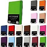 Jacobson Jersey Spannbettlaken Spannbetttuch Baumwolle Bettlaken (140x200-160x200 cm, Rosa)