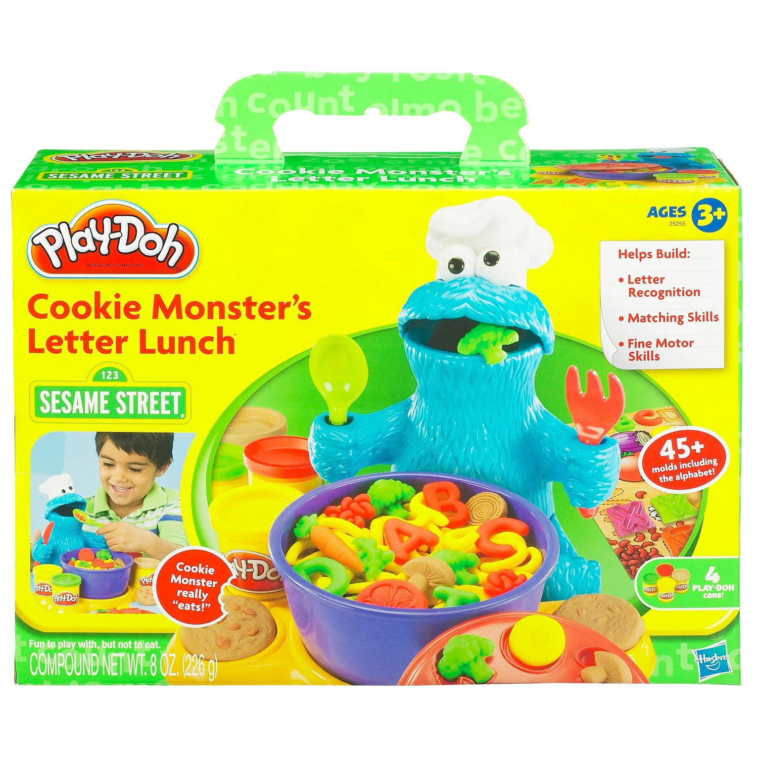 Amazon.com: Play Doh Cookie Monster Letter Lunch: Toys & Games