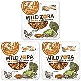 Wild Zora - Curry Free-Range Turkey & Organic Veggie Bars, 1oz single - Gluten-Free - No Antibiotics or Added Hormones (3-Pack)