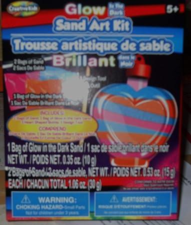 Creative Kids Glow in the Dark Sand Art Kit - Mini Sand Art Kit - with Heart Shaped Bottle