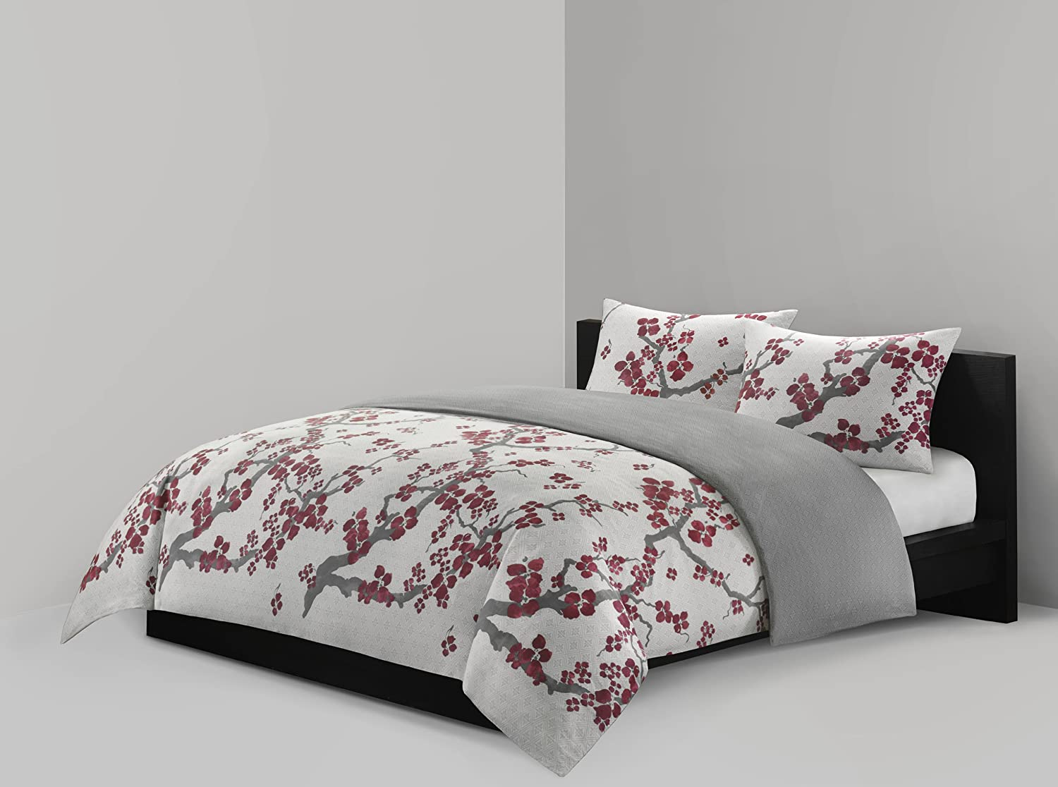 Amazon.com: N Natori Cherry Blossom Mini Duvet Set, Full/Queen ...