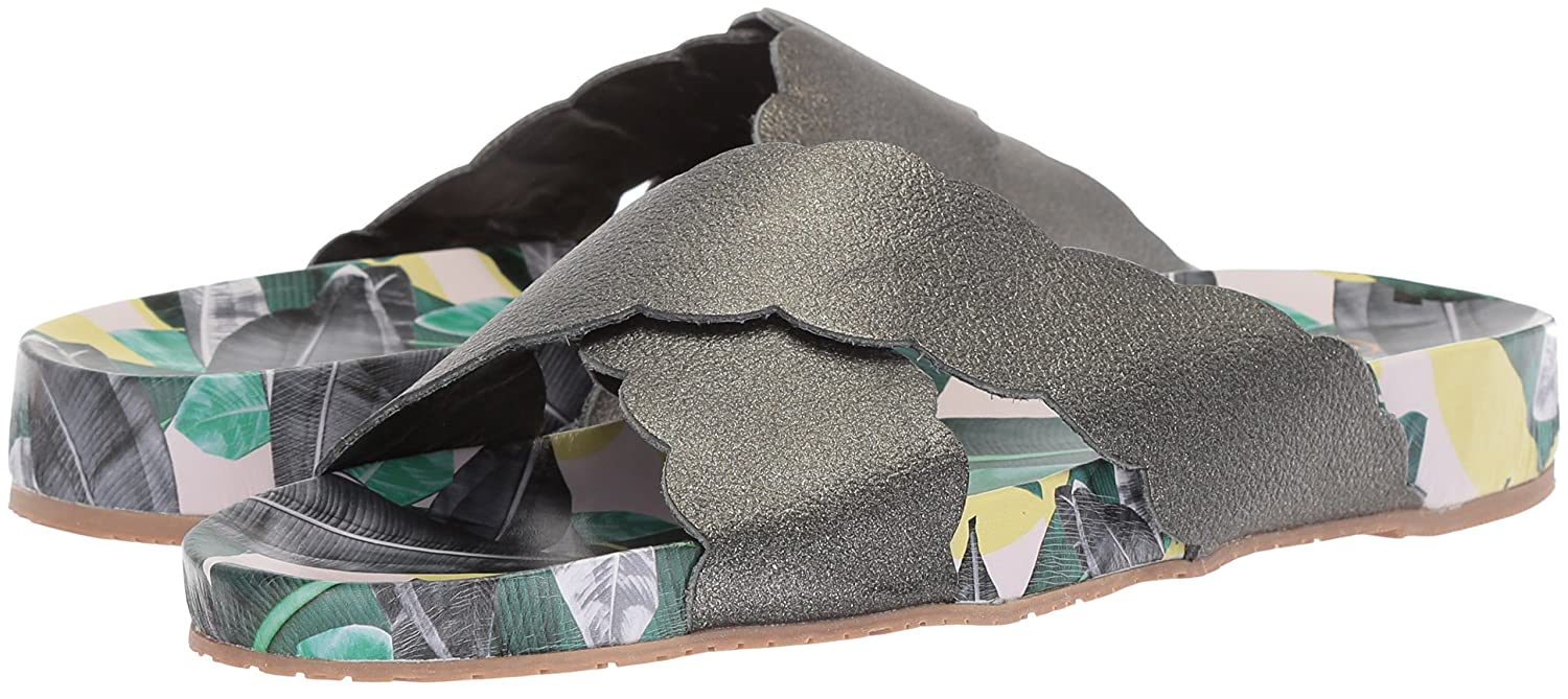 KAANAS Women's Pattaya Scalloped B076FLW2WH Pool Fashion Slide Sandal B076FLW2WH Scalloped 8 B(M) US|Charcoal 8aae95