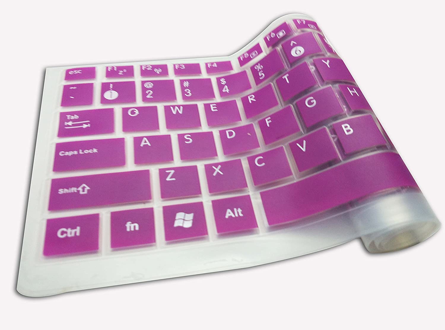 Casiii Dell Silicon Keyboard Cover for Dell Inspiron 15 i5558-5718SLV Signature Edition Laptop (Purple) dell Keyboard Cover dell inspiron Keyboard Cover dell Laptop Laptop Keyboard Covers dell Laptop