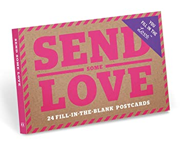 amazon knock knock送信some fill in the love postcard book ブラウン