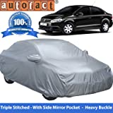 Autofact Premium Silver Matty Triple Stitched Car Body Cover with Mirror Pocket for Volkswagen Vento