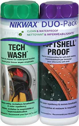Nikwax Softshell Cleaning & Waterproofing Duo-Pack, 20 oz. / 600ml