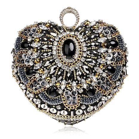 Clutch de Cristal para Mujer,Bolso de Noche de Embrague para la Boda Nupcial Fiesta