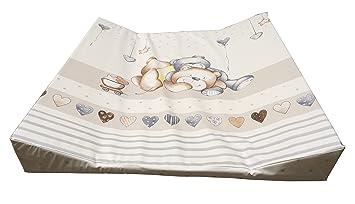 Wickelauflage 2-Keil Mulde 70x75 cm passend f/ür Faultier-Kids IKEA-Wickelaufsatz