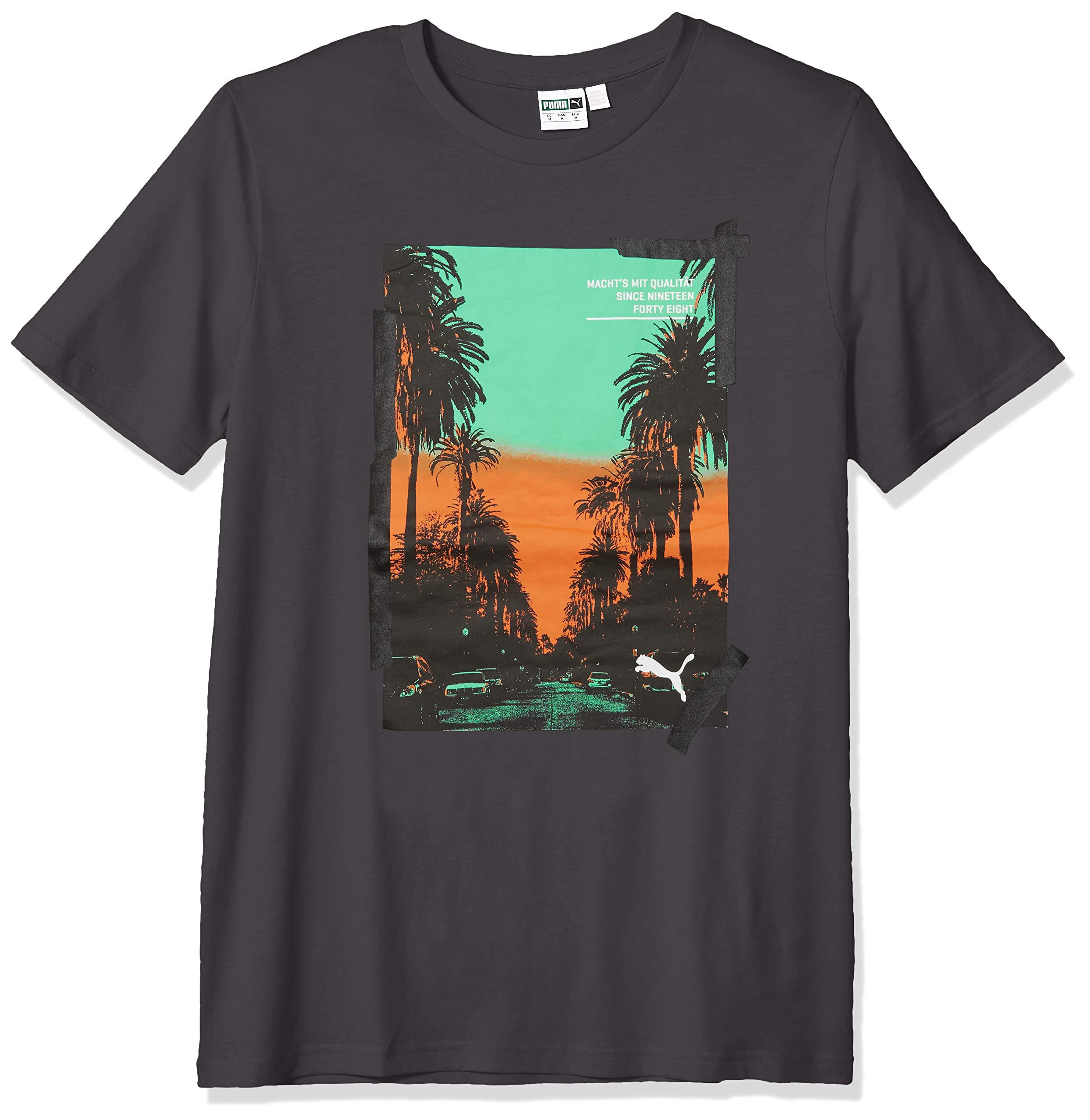 Puma Para hombres Camiseta De Foto Palmas Gráfico, asfalto, S elegir tallacolor   eBay