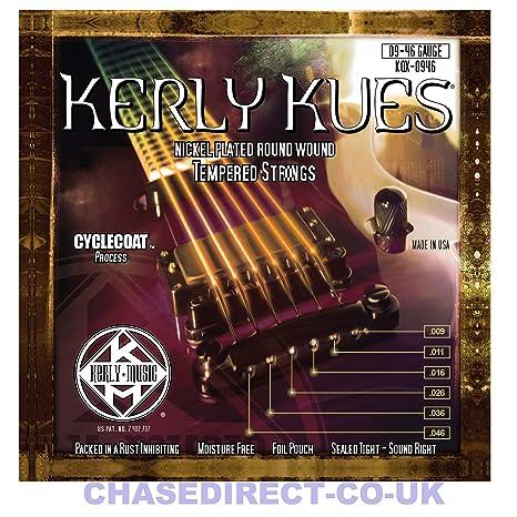 Kerly Kues larga vida con revestimiento de cuerdas para guitarra eléctrica de 6 cuerdas de calibre