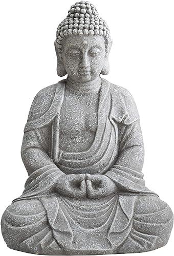 Sunjoy Rowan Buddha Garden Decor Statue