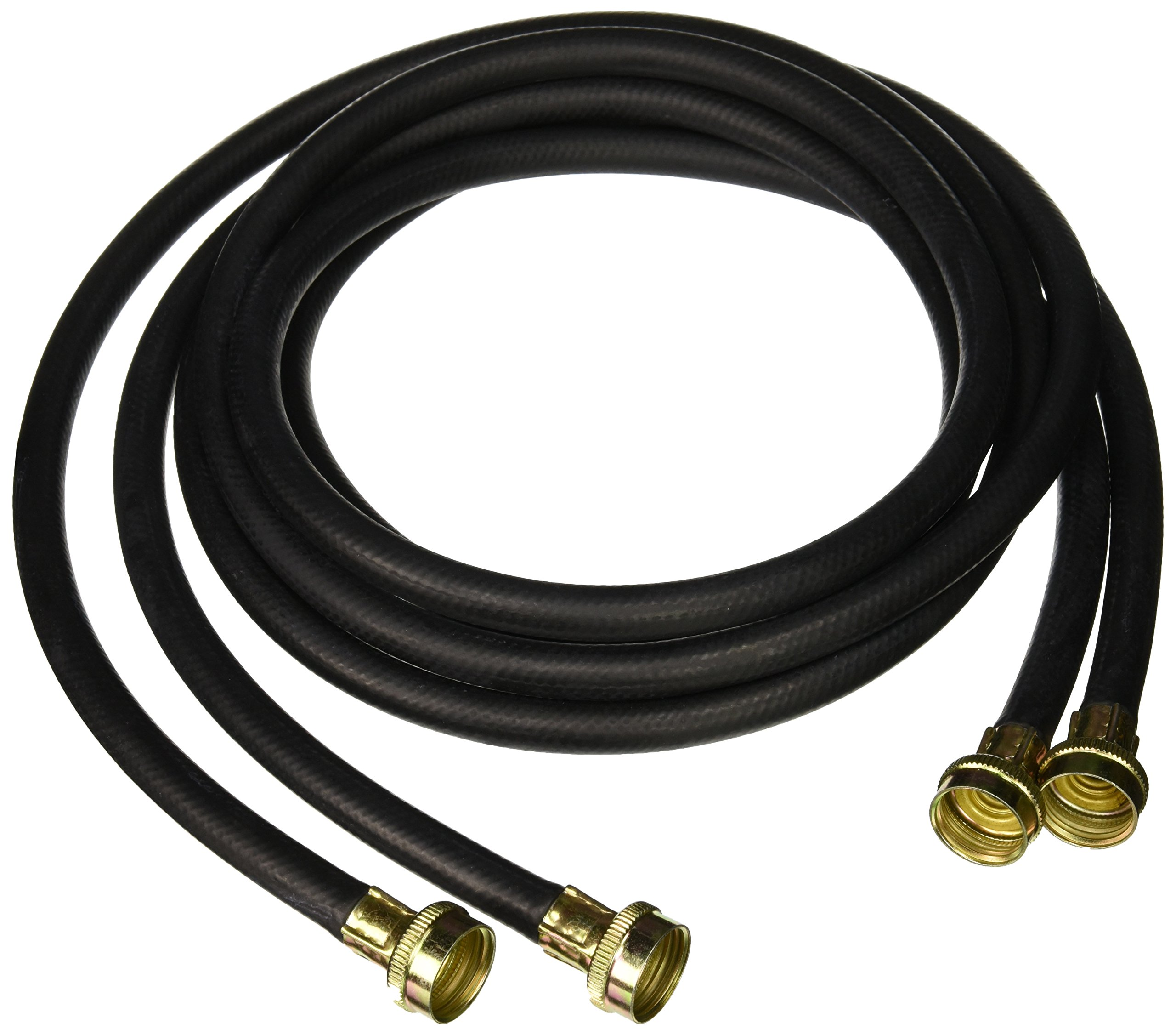 Certified Appliance Accessories Black Rubber Washing Machine Hose, 8 Foot, Hot/Cold Twin Pack