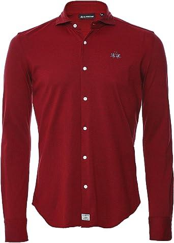 La Martina Hombres Regular Ajuste Pique Oates Camisa Red XXL ...