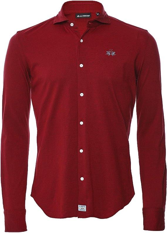 La Martina Hombres Regular Ajuste Pique Oates Camisa Rojo XXL: Amazon.es: Ropa y accesorios