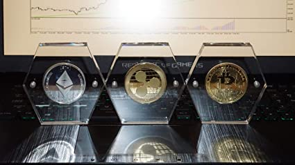 Silver Plated Physical Bitcoin in protective acrylic case FAST SHIPPIN BITCOIN!