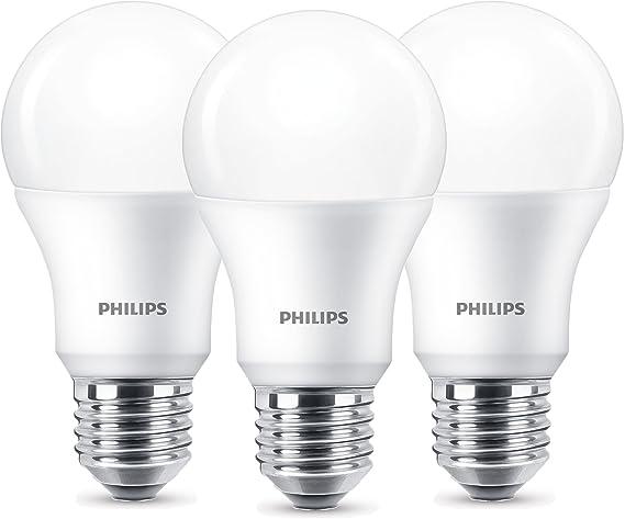 Bombilla Philips LED Rosca E27, Edison, Luz Blanca, Cristal Esmerilado, Plástico,