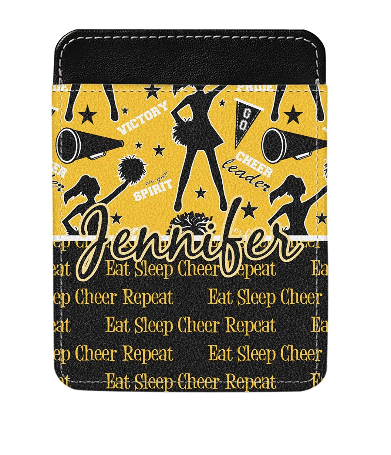 Personalized Cheer Genuine Leather Money Clip