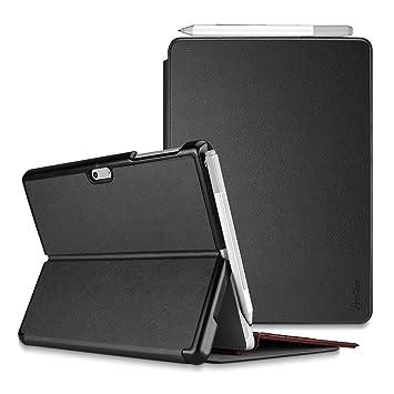 ProCase Funda Folio para Surface Pro 6 / Pro 2017 / Pro 4 / Pro LTE, Carcasa Tipo Libro Delgada Dura con Soporte y Portalápiz Incorporado, Compatible ...
