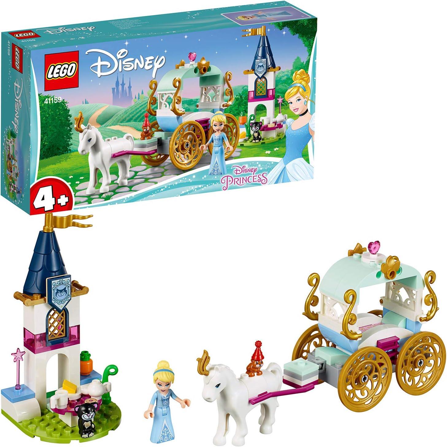 LEGO Disney Princess - Paseo en Carruaje de Cenicienta, juguete imaginativo de construcción (41159)