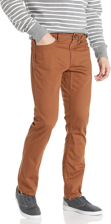 Volcom Mens Vorta 5 Pocket Slub Slim Fit Pant