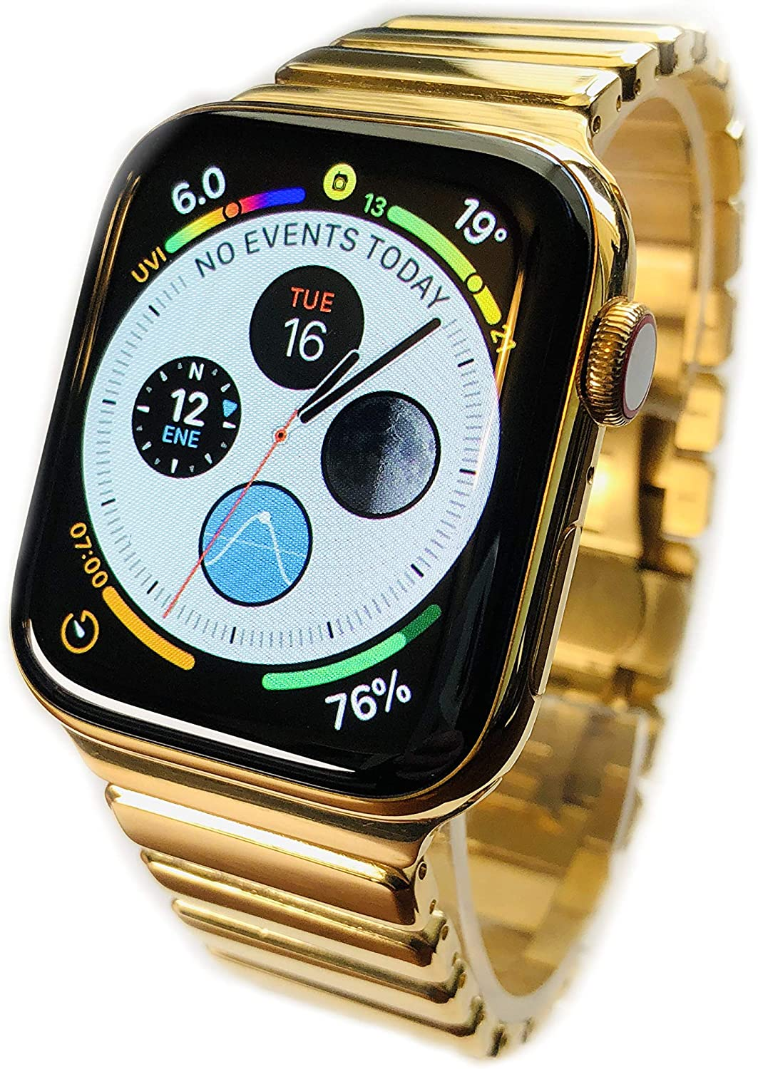 Custom 24K Gold Plated 44MM iWatch Series 4 with Diamond Polished Band LTE+GPS US Version
