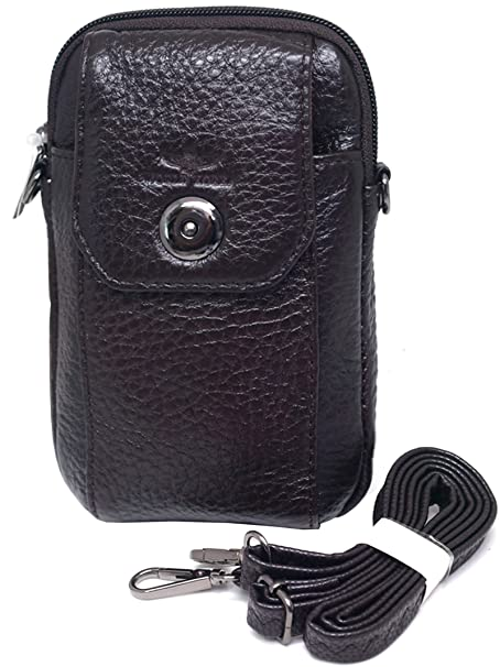 a9e23e52f1c7 Image Unavailable. Image not available for. Color  Small Bag Waist Pack  Messenger Bags Tactical Cellphone Phone Pouch Leather Travel Bags Cases  Holsters ...