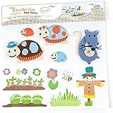 BabyToLove Stickers Muraux - Stickers Décor et Tissus - La famille Tortue