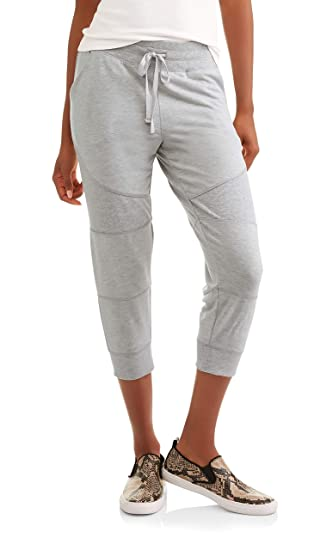 6c483e1702002 Danskin Now Women's French Terry Essential Athleisure Jogger Capri Pants  Available in Regular and Plus Size at Amazon Women's Clothing store: