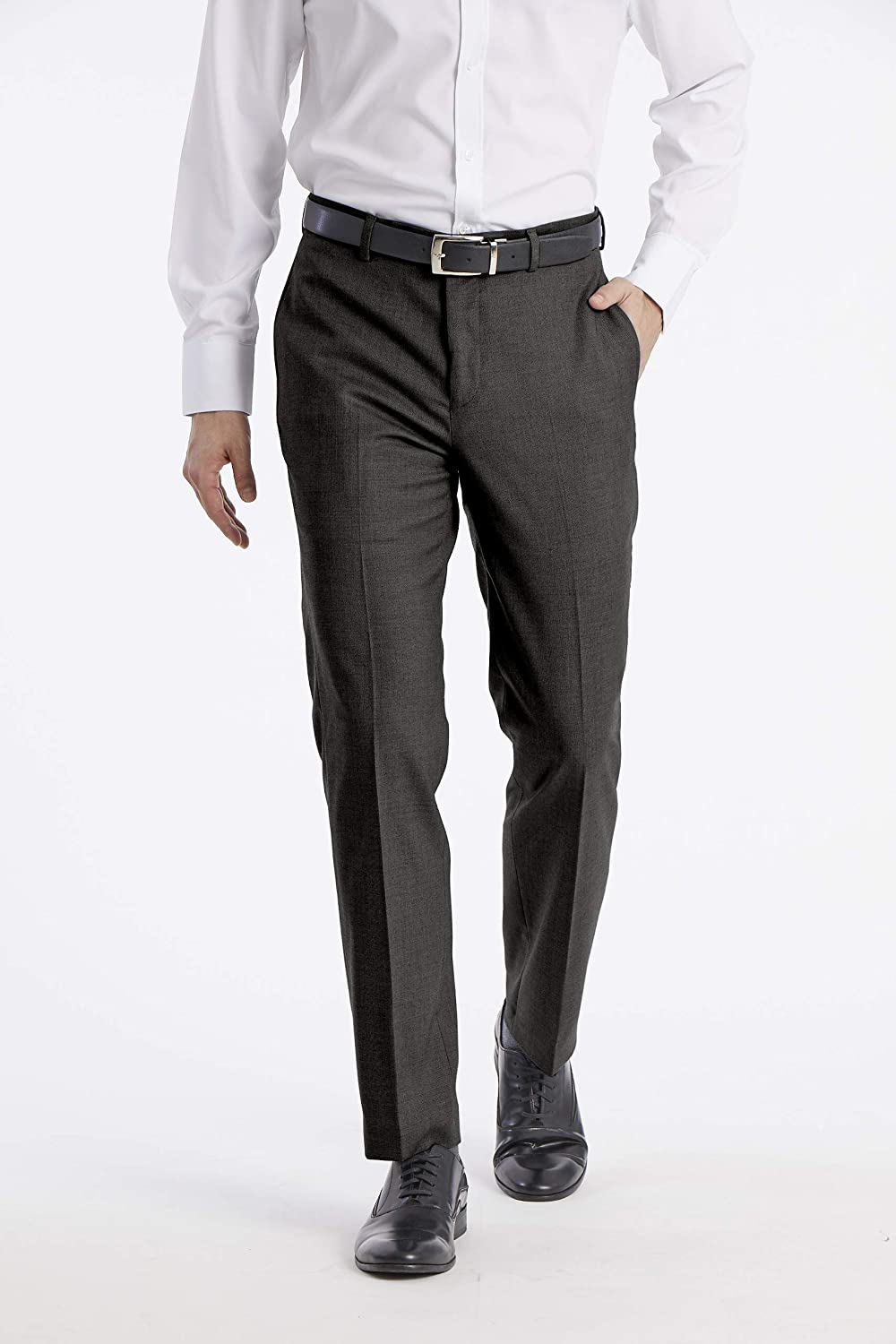 9e88fdcf Calvin Klein Men's X Performance Slim Fit Flat Front Dress Pant at Amazon Men's  Clothing store: