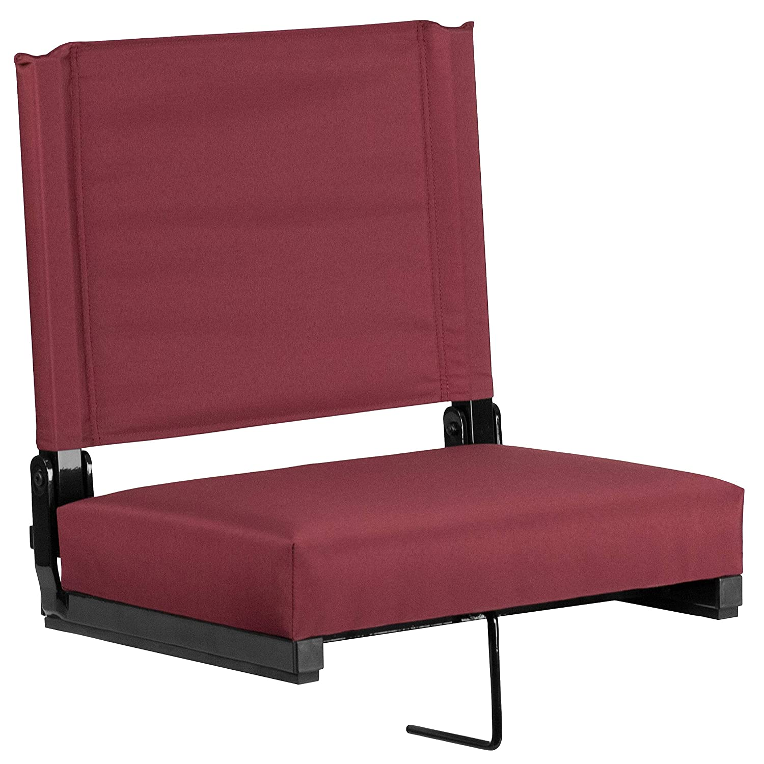 Flash Furniture Grandstand Comfort Seats by Flash with Ultra-Padded Seat in Maroon
