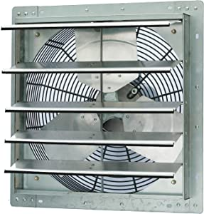 Iliving 18 Inch Single Speed Shutter Exhaust Fan, Wall-Mounted, 18